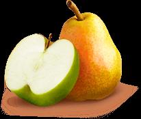 Яблуко і груша